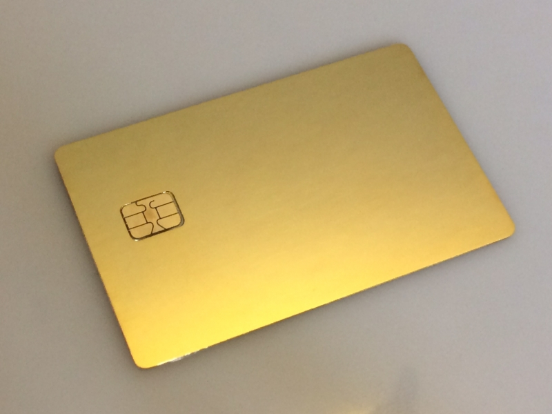 Custom 24k Gold Plated Credit Card