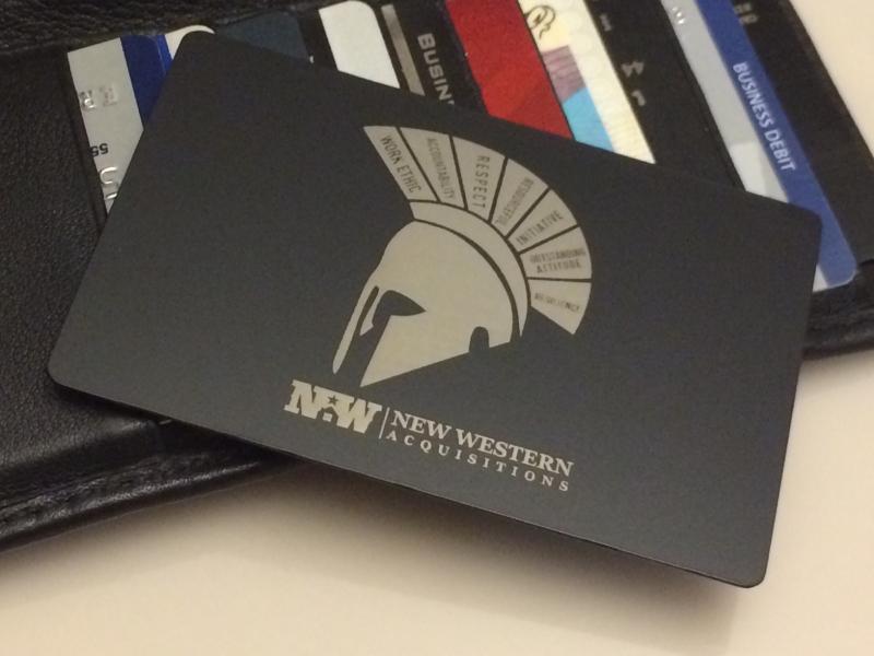 New Western Black Card - Metal-CreditCard.com™