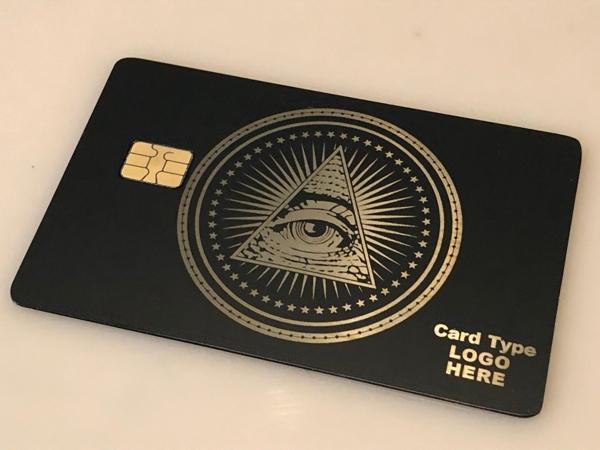 All seeing eye metal credit cards