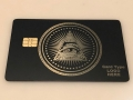 All seeing eye metal credit card