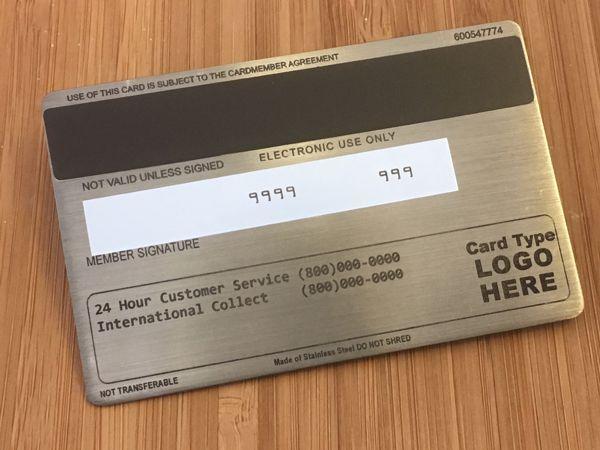 metal credit card blue steele