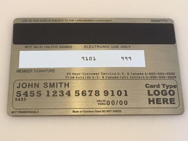 custom metal credit card pewter