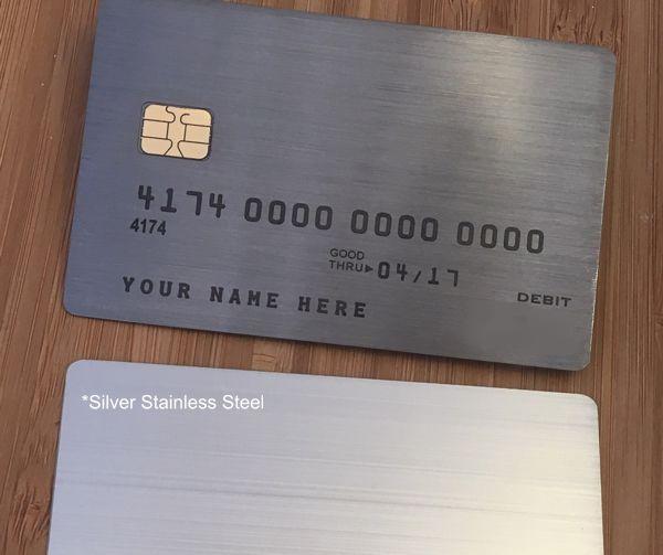 Blue Steele Pewter Metal Card contrast