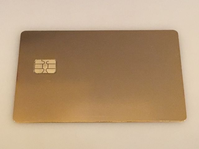 24 Karat Gold Plated Metal Credit Card