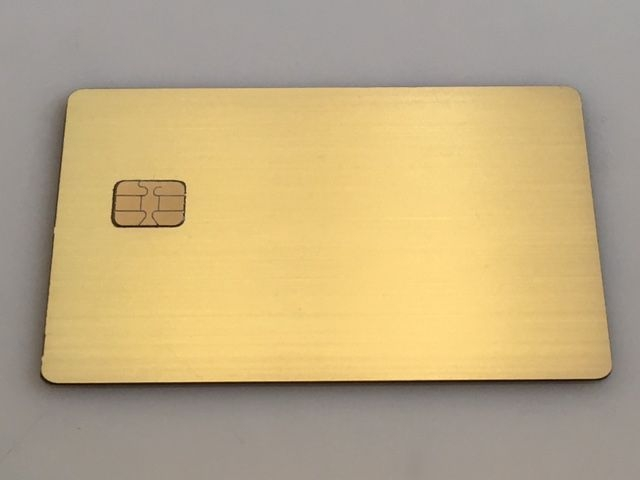 brushed gold plated credit card