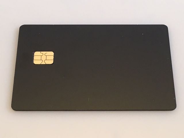 Matte Black Metal Credit Card