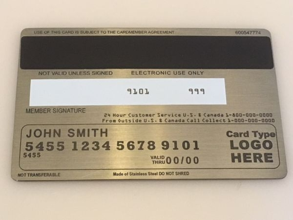 custom metal credit card pewter