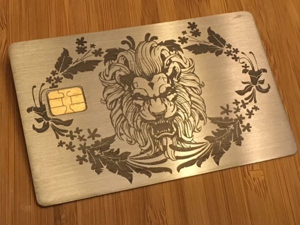 custom metal pewter credit card