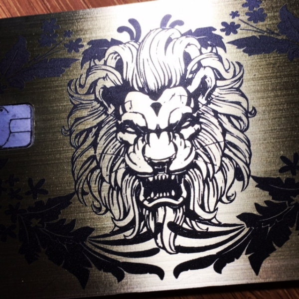 Custom Brushed Gold Plated Card