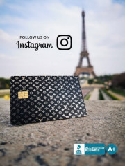 Custom-Metal-Credit-Card-Eiffel-Tower
