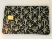 art deco metal credit card