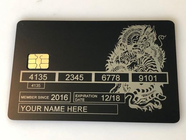 dragon tiger metal credit card