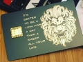 Custom Matte-Black Metal Credit Card