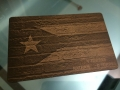 puerto rico flag metal credit card