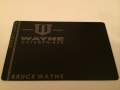 custom batman wayne enterprises metal credit card