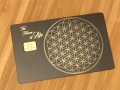 sacred geometry metal card matte black