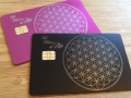sacred geometry metal debit credit card