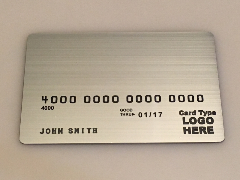 Brushed Stainless Steel Metal Template #1