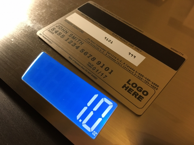Brushed Stainless Steel Metal Credit Card
