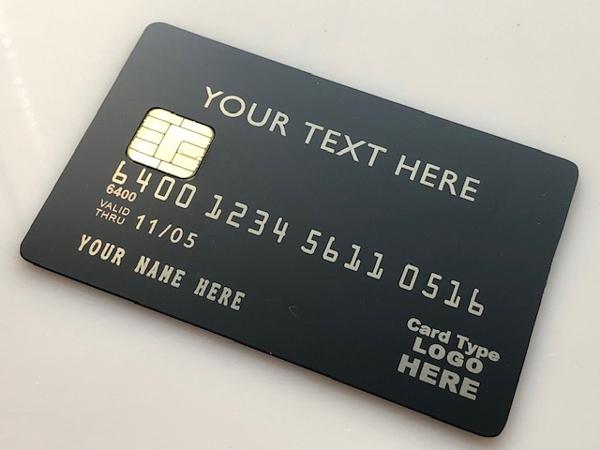 custom metal credit card matte black card