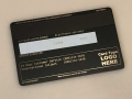 custom  metal credit card matte-black back template 3