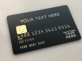 custom metal debit card matte black card