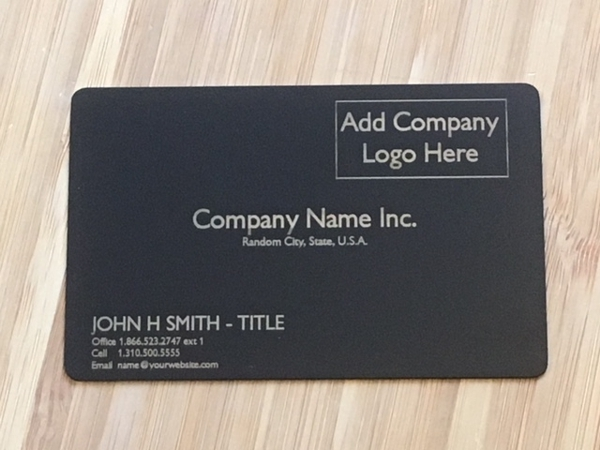 Engraved metal business cards matte black metal business card template 2 reheart Choice Image