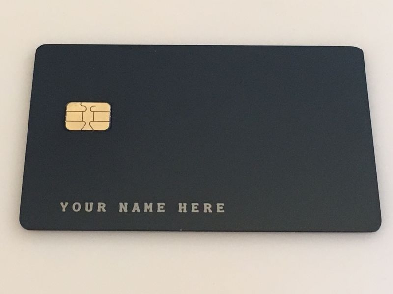 metal credit card
