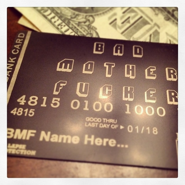 Custom Black Metal Debit Card