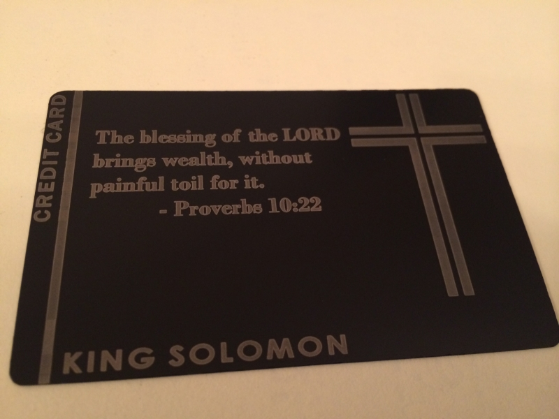 custom black metal credit card religious - Custom Visa Debit Card