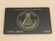 Elite USA metal black card