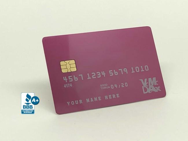 gloss-pink-metal-credit-card-temp-2-front-angle