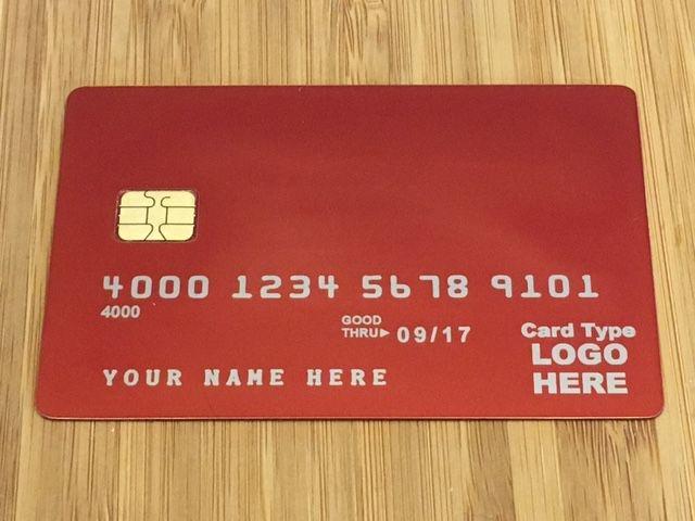 Red Metal Credit card Std Template #2