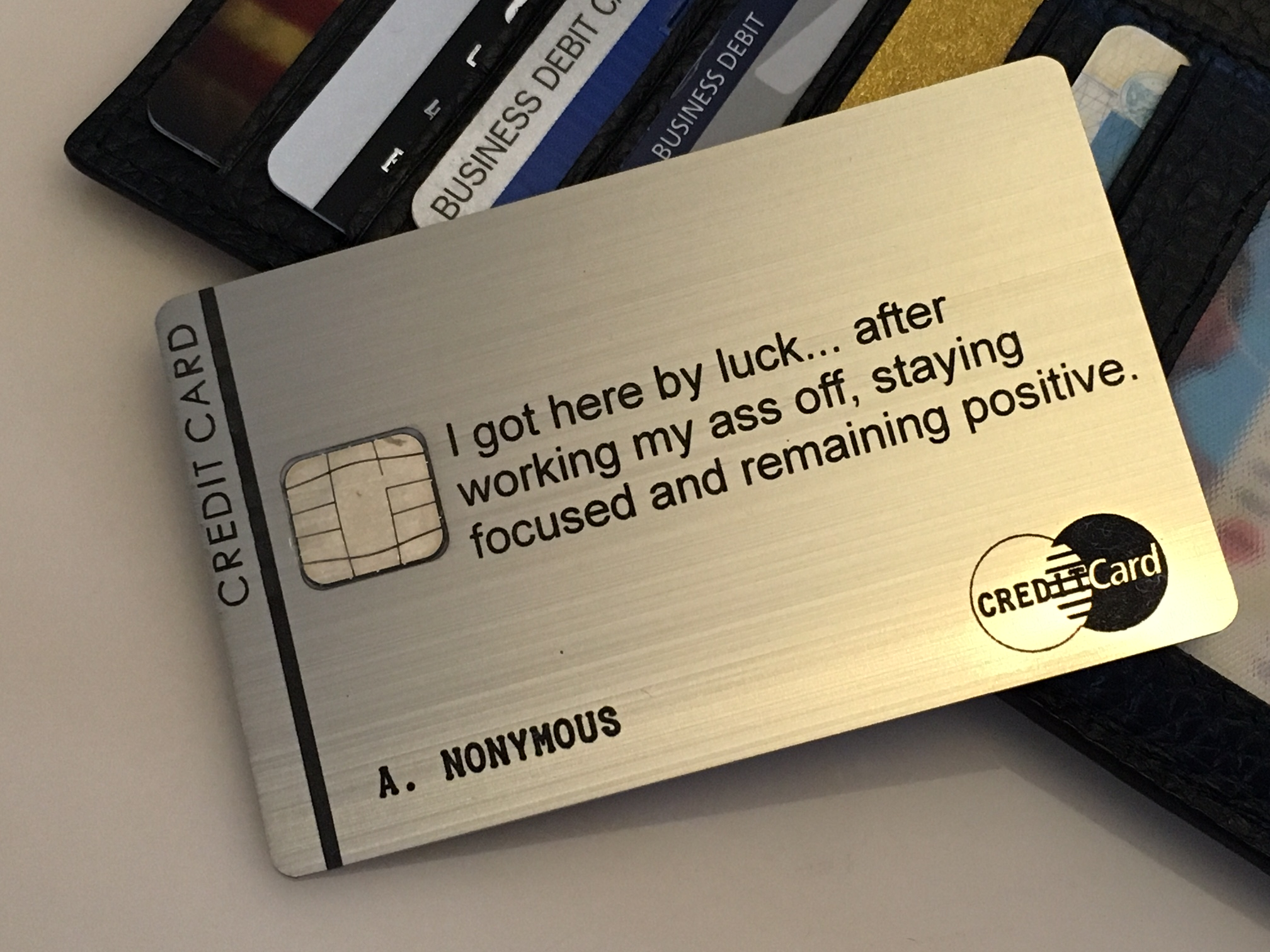 custom brushed stainless steel metal credit card