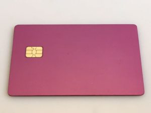 Pink Metal Credit Card