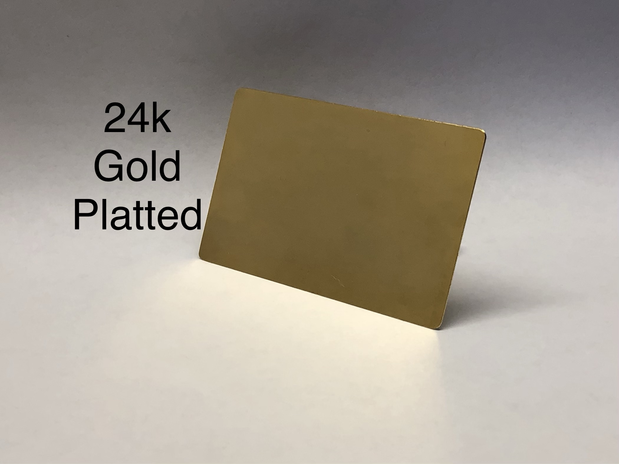 Custom 24k Gold Plated Cards