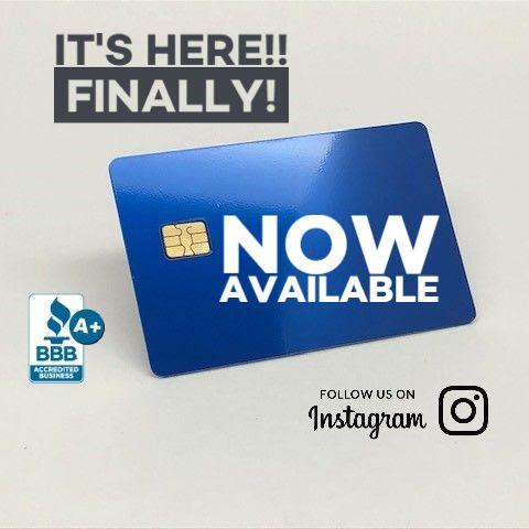New Custom Metal Credit Card - Anodized Blue