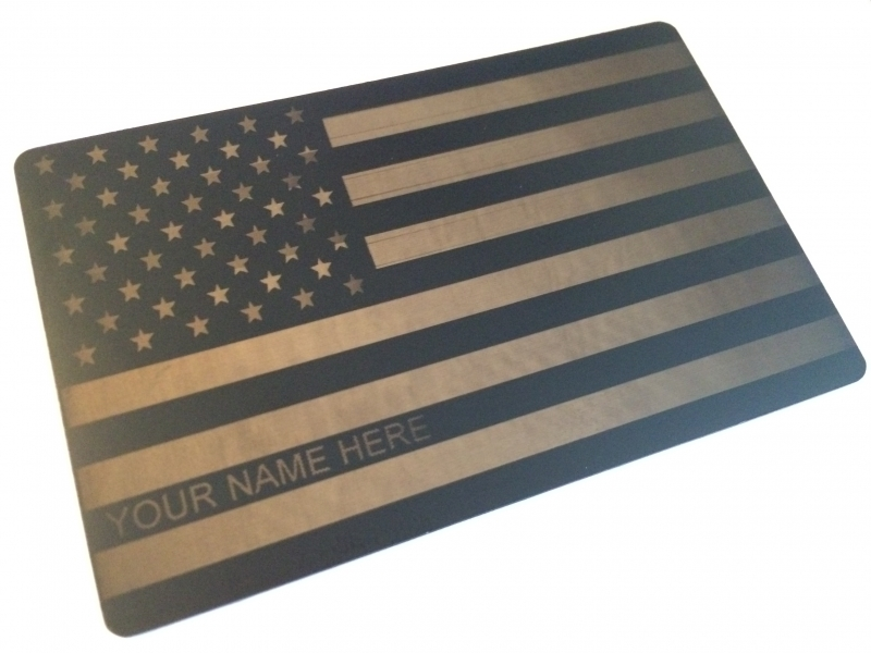 Custom Engraved Matte-Black Card