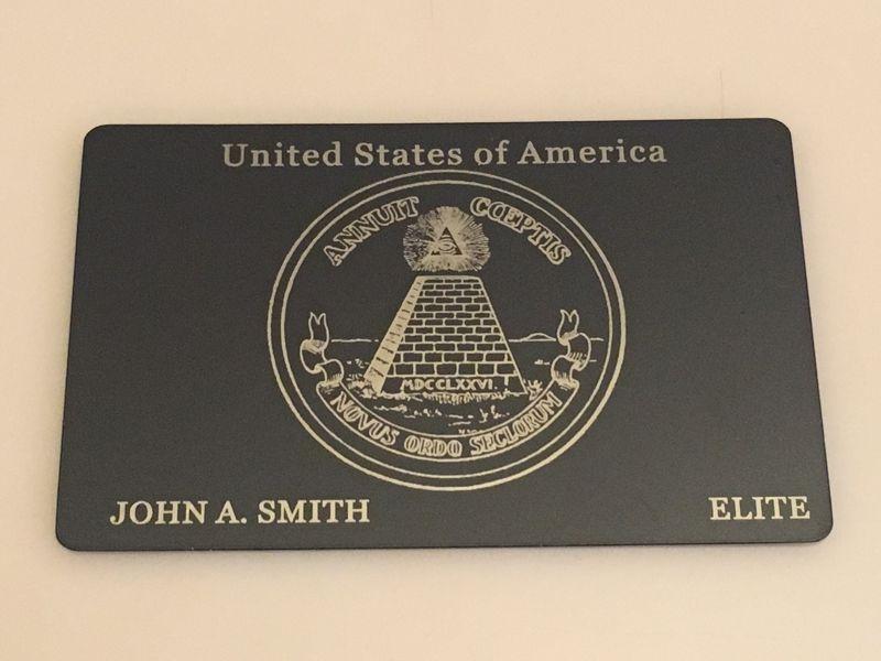 Custom Engraved Matte-Black Card