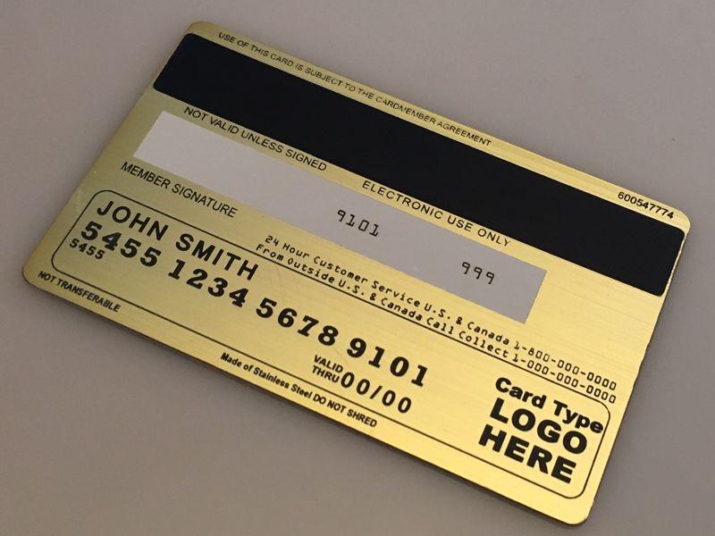 Custom Brushed Gold Cards