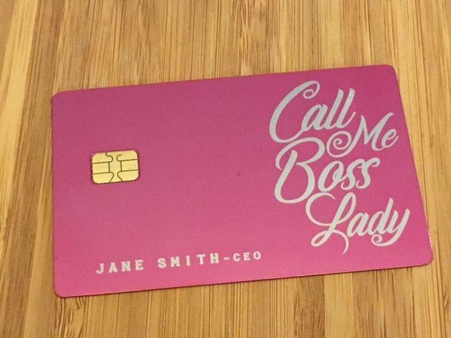 Custom Engraved Pink Metal Cards