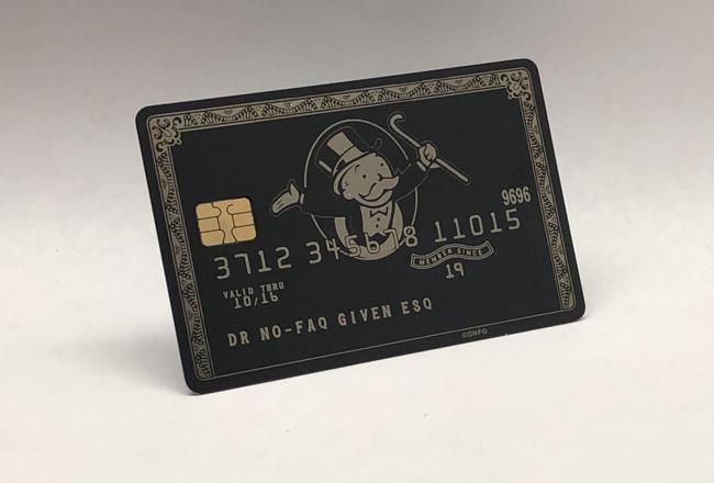 Mr Money Bags Design (matte-black)