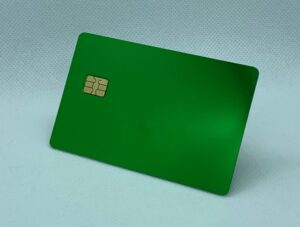 green metal credit card