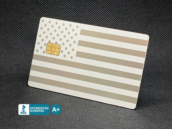 Matte-White Royale Custom Metal Credit Card
