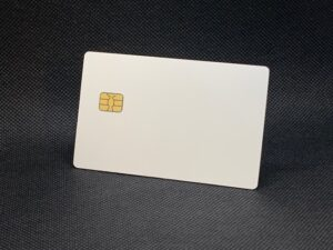 matte white card metal debit card v1
