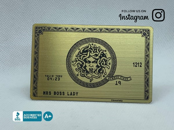 Custom Brushed Gold Metal Credit Card