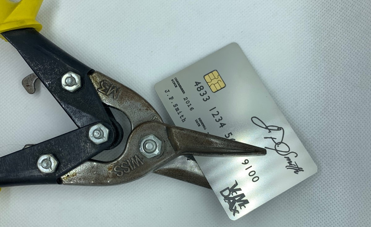How to properly destroy a metal credit card