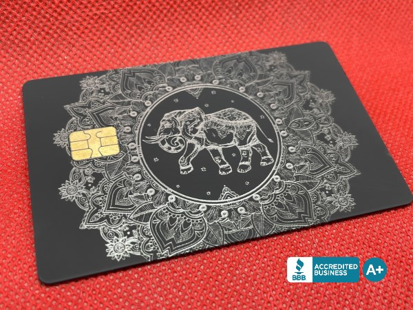 Custom Engraved Velvet-Black Card