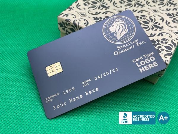 Stratton Oakmont Card Design (matte-black)