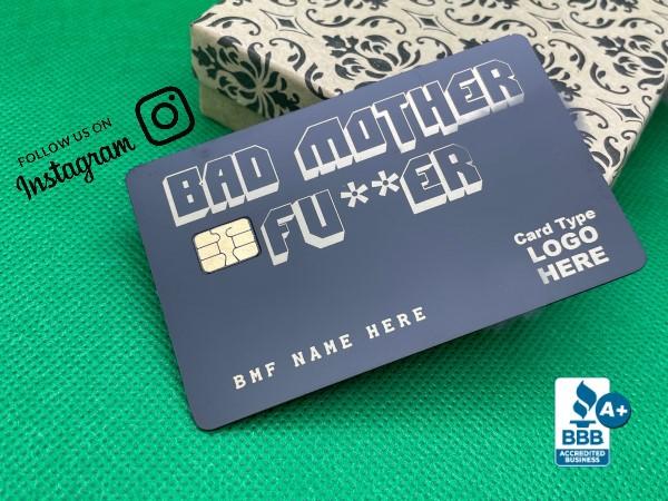 Bad Mother Fu*ker Card  (matte-black)
